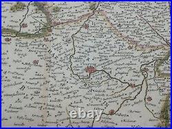BEAUCE FRANCE 1636 JOHANNES JANSSON LARGE ANTIQUE MAP 17th CENTURY