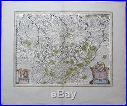 BLAEU France Map Champagne 1650