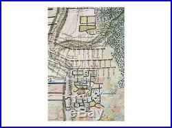 Battle of Malplaquet antique map France Rapin 1743