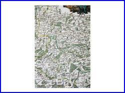 Belgium France old map Comtés Hainaute Vaugondy 1753