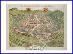 Bisanz antique woodcut Besançon France Münster 1628