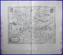 Blaeu Large Map France Anjou Angers Saumur Loire 1650