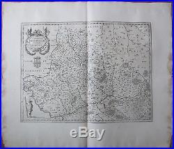 Blaeu Large Map France Beauvais Crepy Meulan Poisy 1650