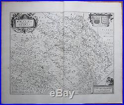 Blaeu Large Map France Boulogne 1650