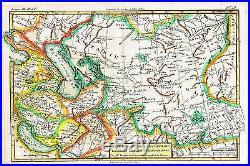 Bonne Raynal's Hand-Col'd Atlas de Toutes -CARTE DE LA PERSE & GEORGIE -1780