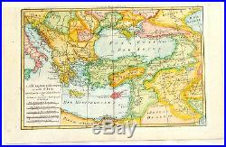 Bonne Raynal's Hand-Col'd Atlas de Toutes -LA TURQUIE D'EUROPE & ASIA -1780