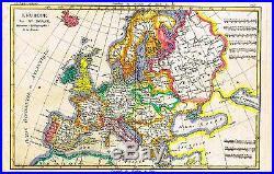 Bonne Raynal's Hand-Colored Atlas de Toutes -1780- L'EUROPE (EUROPE)