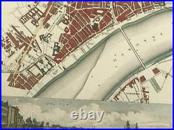 Bordeaux France 1832 Baldwin & Cradock Nice Antique Map & View 19th Century