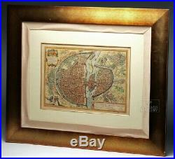 Braun & Hogenberg, Paris, 16th C Map, Original Antique Hand-Colored Engraved Map