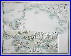 Bretagne Brittany Brest Rennes Nantes France carte map Mentelle Chanlaire 1797