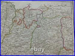 Bretagne Brittany France 18th Century Robert De Vaugondy Large Antique Map