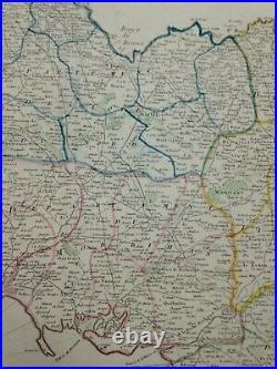 Bretagne France 1790 Mondhare & Jean Rare Large Antique Map 18th Century