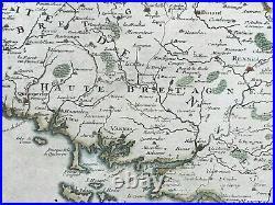 Brittany (france) 1705 Nicolas De Fer Rare Antique Map 18th Century