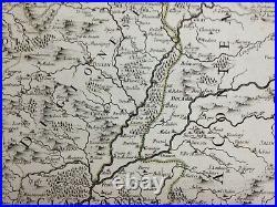 Burgundy Bourgogne France 1692 Rossi-cantelli Da Vignola Large Antique Wine Map