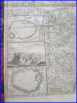C1691 ORIGINAL MAP LES ETAT de SAVOYE et DE PIEMONT, I. B. NOLIN, PARIS FRANCE