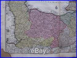 C1740 Seutter Normandie France Normandy Rouen Caen Le Havre Cherbourg La Manche