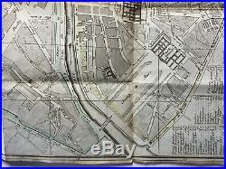 C1820 Nouveau plan routier de la Ville de Paris by Moronval Antique City Map