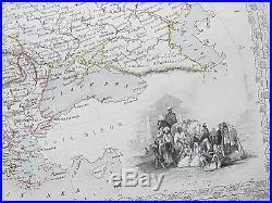 C1854 EUROPE ICELAND Genuine Antique Map by Rapkin