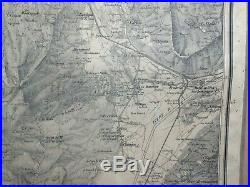 CHAMBERY FRANCE LARGE ANTIQUE ROLLED MAP by PERRIN XIXe CENTURY