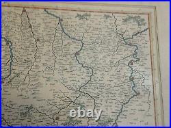 CHAMPAGNE FRANCE 1640 WILLEM JANSOON BLAEU UNUSUAL LARGE ANTIQUE MAP 17e CENTURY