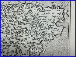 CORSICA 1584 ABRAHAM ORTELIUS UNUSUAL ANTIQUE ENGRAVED MAP 16e CENTURY