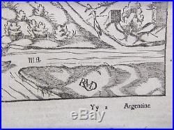 Ca 1552 Wood Cut Map City Of Selestat Alsace France Sebastian Munster