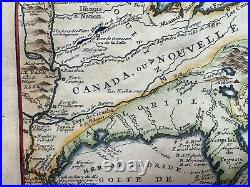 Canada Nouvelle France Florida 1705 Nicolas De Fer Antique Map 18th Century