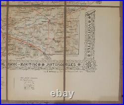 Carte Routière De Dion Bouton Environs de Paris ca 1905