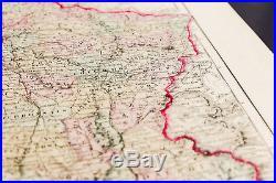 Carte ancienne et rare (1857) de la France Colton. Antique Map of France