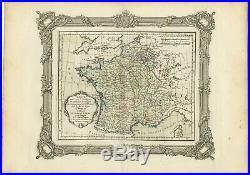Carte pour servir à intelligence de l'Histoire de France (.) Zannoni (1765)