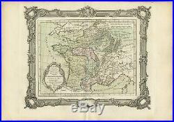 Carte pour servir a l'intelligence de l'Histoire de France (.) Zannoni (1765)