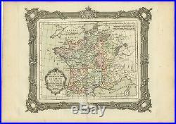 Carte réprésentant la France (.) Zannoni (1765)
