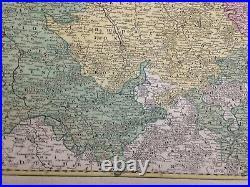 Champagne (france) 1720 Jb Homann Large Antique Wine Map 18th Century