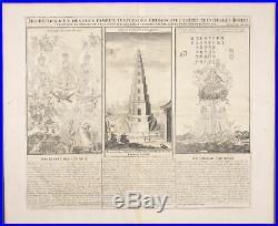Chatelain Famous Chinese temples. 154 -1718 Atlas Historique Engraving