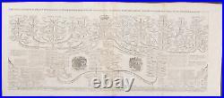 Chatelain Genealogy. House of Nassau. 7-21 1718 Atlas Historique Engraving