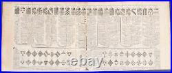 Chatelain Genealogy of Courtenay House. 3 1718 Atlas Historique Engraving