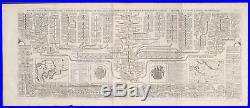 Chatelain Genealogy of Royal Denmark. 25 1718 Atlas Historique Engraving