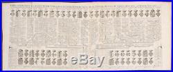 Chatelain Genealogy of Sicily & Naples. 9 1718 Atlas Historique Engraving