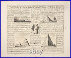 Chatelain Giza Description of the Pyramids 1718 Atlas Historique Engraving