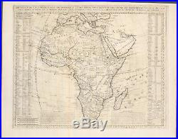 Chatelain Map of Africa 1718 Atlas Historique Engraving