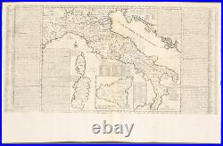 Chatelain Map of Italy. 17b 1718 Atlas Historique Engraving