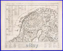 Chatelain Map of Northern part of Scandinavia. 8 1718 Atlas Historique