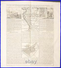 Chatelain Map of Peru. 6-134 1718 Atlas Historique Engraving