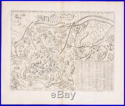 Chatelain Map of Rome. 11 1718 Atlas Historique Engraving