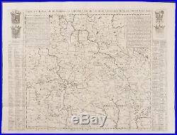 Chatelain Map of Southern Poland, etc. 7-39 1718 Atlas Historique Engraving