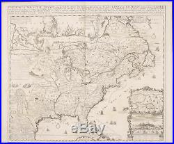 Chatelain New France Louisiana, Florida 1718 Atlas Historique Engraving