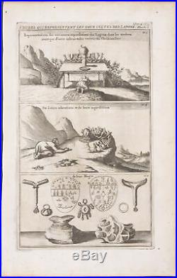 Chatelain Northern Europe Sami Cults -1718 Atlas Historique Engraving