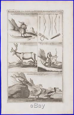 Chatelain Northern Europe Sami Hunting 1718 Atlas Historique Engraving