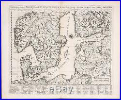 Chatelain Scandinavia, Baltic Sea, Estonia, Latvia, etc -1718 Atlas Historique