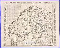 Chatelain-Scandinavia -Finland, Baltics, Russia -1718 Atlas Historique Engraving